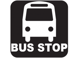 Bus stop 100m from house
