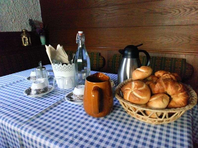 Breakfast table Haus Schneeberg
