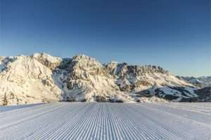 Early morning skiing Hochkoenig