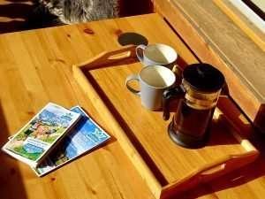 Selbhorn coffee on balcony Haus Schneeberg