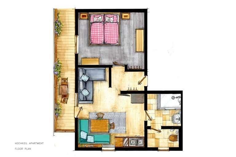 Hochkeil apartrment floor plan - Haus Schneeberg