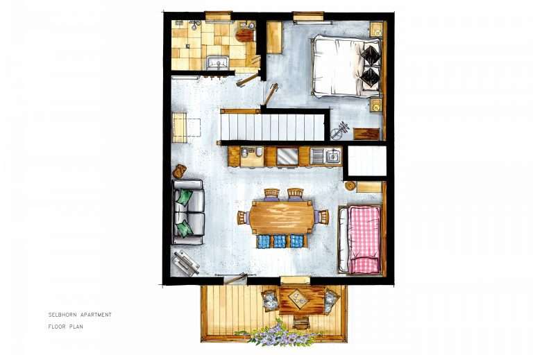 Selbhorn Apartment floor plan, Haus Schneeberg