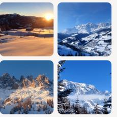 Coasters - winter scenery in the Hochkönig